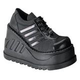 Nero 12,5 cm STOMP-08 scarpe lolita gotico calzature con zeppa altissimo