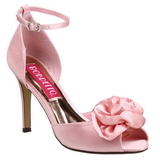 Pink Satin 9,5 cm ROSA-02 Womens High Heel Sandals