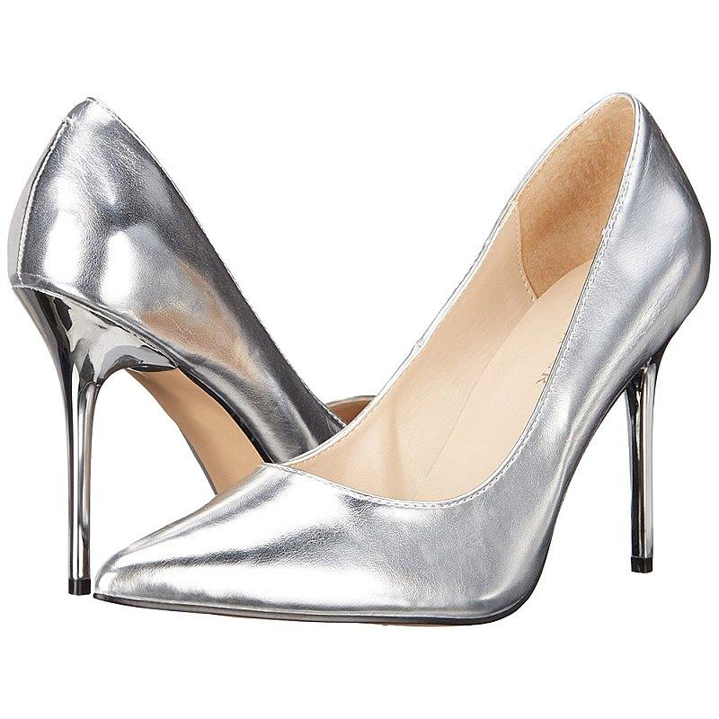 Pleaser CLASSIQUE-20 scarpe con tacchi alti argento taglie 37 - 38