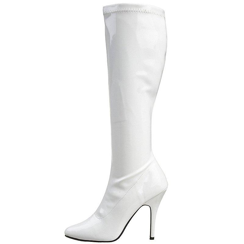 Pleaser SEDUCE-2000 stivali con tacchi altissimi bianco taglie 39 - 40