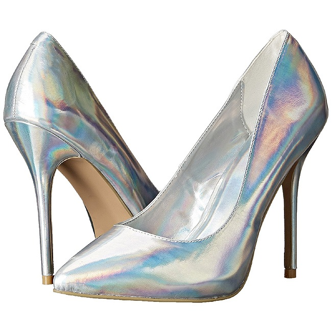 Pleaser AMUSE-20 scarpe con tacchi a spillo argento taglie 37 - 38