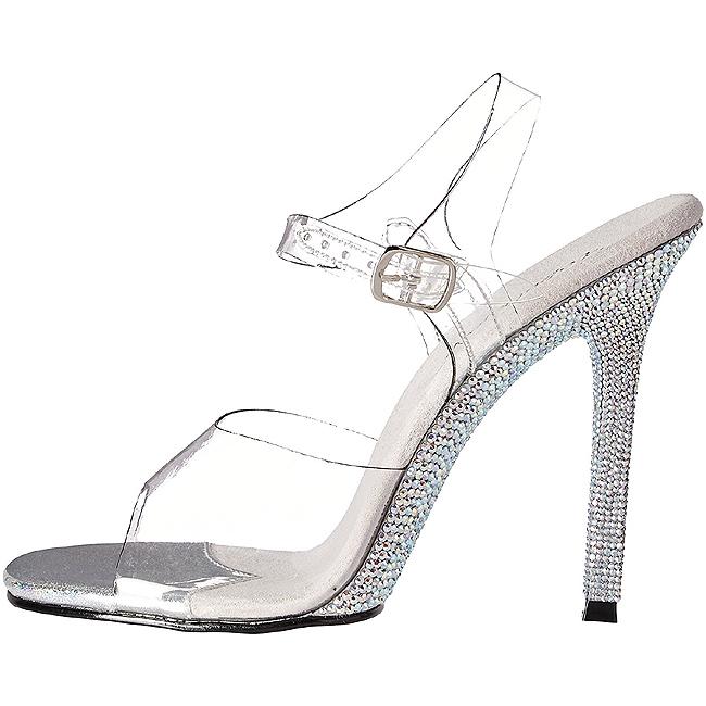 Pleaser CHIC-08DM scarpe da sera con pietre taglie 38 - 39