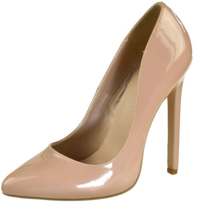 Pleaser SEXY-20 scarpe tacco alto a punta beige taglie 36 - 37