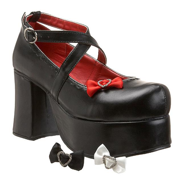 demonia ABBEY-03 scarpe gothic punk donna nero taglie 38 - 39