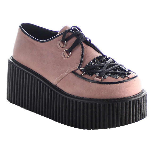 demonia CREEPER-216 scarpe creepers rose alte taglie 36 - 37