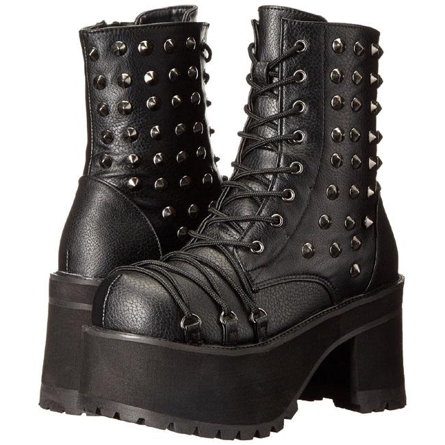 demonia RANGER-208 stivaletti gothic da donna nero taglie 38 - 39