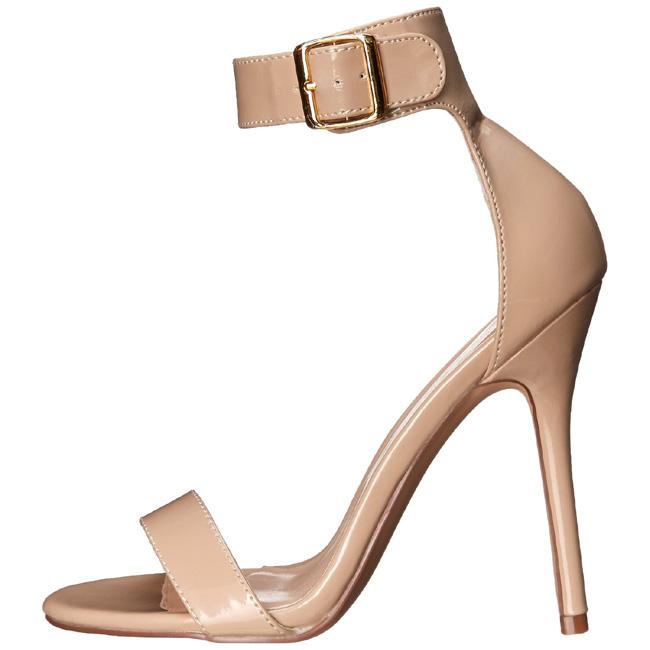 AMUSE-10 sandali con tacchi a spillo pleaser colore crema