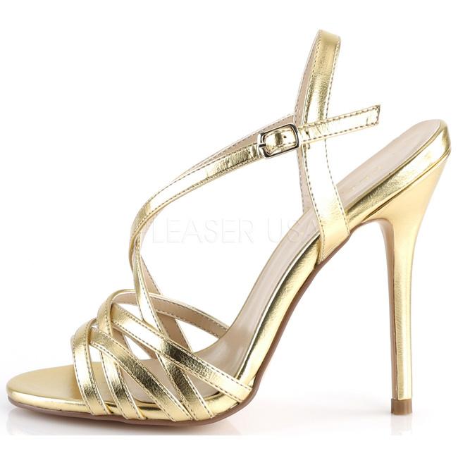 AMUSE-13 sandali tacchi a spillo oro pleaser - più sexy