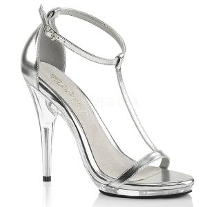 Argento 12,5 cm Fabulicious POISE-526 sandali tacchi a spillo