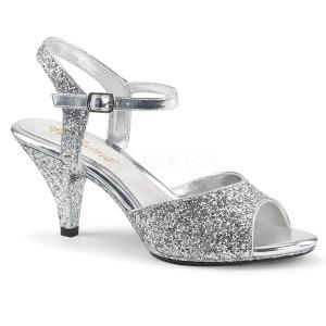 Argento scintillare 8 cm BELLE-309G scarpe per trans