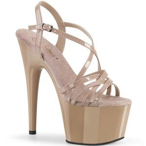 Beige 18 cm ADORE-713 pleaser sandali con tacchi a spillo