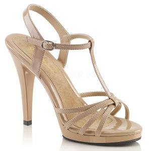 Beige Vernice 12 cm FLAIR-420 Sandali Donna con Tacco