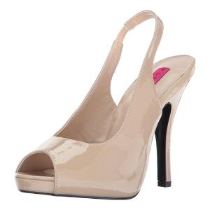 Beige Verniciata 12,5 cm EVE-04 grandi taglie sandali donna