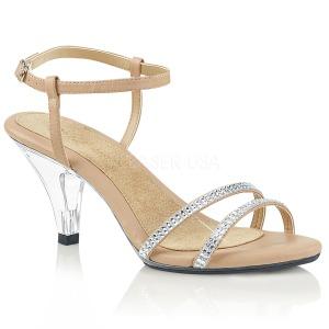 Beige pietre strass 8 cm BELLE-316 scarpe per trans