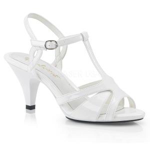 Bianco 8 cm Fabulicious BELLE-322 sandali tacchi bassi