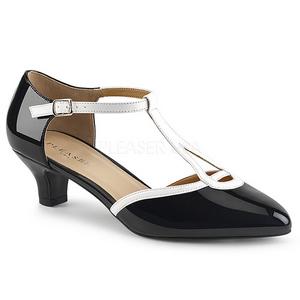 Bianco Nero 5 cm FAB-428 grandi taglie scarpe décolleté
