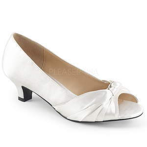 Bianco Raso 5 cm FAB-422 grandi taglie scarpe décolleté
