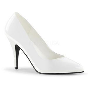 Bianco Vernice 10 cm VANITY-420 scarpe décolleté a punta elegante