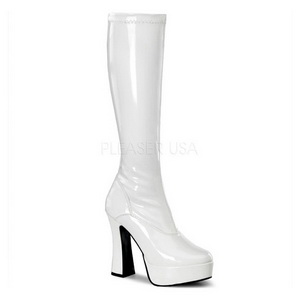 Bianco Vernice 13 cm ELECTRA-2000Z Stivali Donna da Uomo