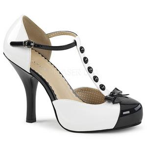 Bianco Verniciata 11,5 cm PINUP-02 grandi taglie scarpe décolleté