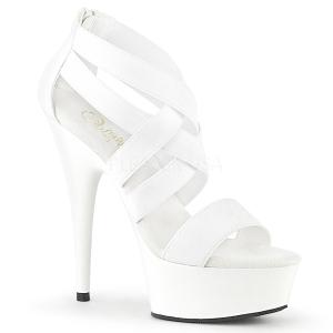 Bianco banda elasticizzata 15 cm DELIGHT-669 scarpe da donna pleaser