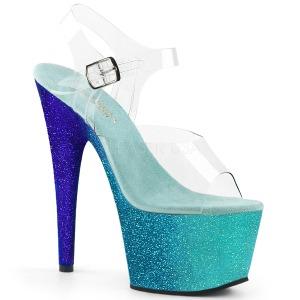 Blu scintillare 18 cm Pleaser ADORE-708OMBRE scarpe con tacchi da pole dance