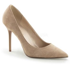 Cipria Scamosciate 10 cm CLASSIQUE-20 grandi taglie scarpe stilettos