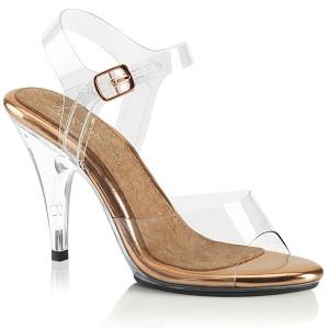 Dorato 10 cm CARESS-408 sandali tacchi a spillo