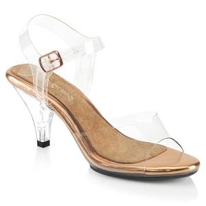 Dorato 8 cm BELLE-308 sandali tacchi a spillo