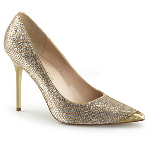 Dorato Scintillare 10 cm CLASSIQUE-20 grandi taglie scarpe stilettos