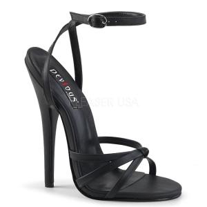 Ecopelle 15 cm Devious DOMINA-108 sandali tacchi a spillo