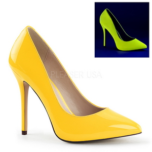Giallo Neon 13 cm AMUSE-20 scarpe tacchi a spillo con punta