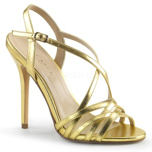 Gold 13 cm Pleaser AMUSE-13 high heeled sandals