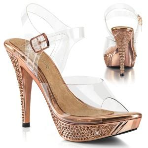 Gold Rose 11,5 cm ELEGANT-408 scarpe posare - tacco alto da competizione bikini