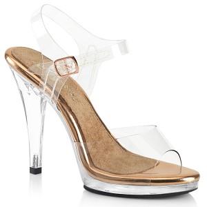 Gold Rose 11,5 cm FLAIR-408 scarpe posare - tacco alto da competizione bikini