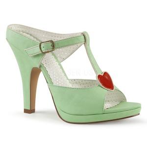 Green 10 cm SIREN-09 Women Mules Shoes