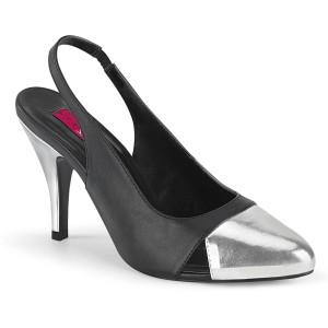 Leatherette 10 cm DREAM-405 slingback pumps transvestite shoes