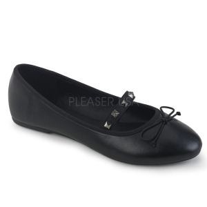 Leatherette DEMONIA DRAC-07 ballerinas flat womens shoes