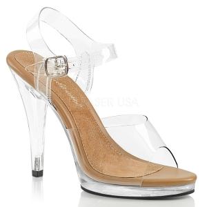 Marrone 11,5 cm FLAIR-408 scarpe per trans