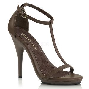 Marrone 12,5 cm Fabulicious POISE-526 sandali tacchi a spillo