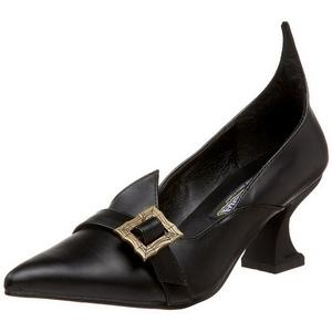 Matto 6,5 cm SALEM-06 scarpe décolleté da strega tacco basso