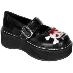 Nero 5 cm EMILY-221 calzature da gotico lolita