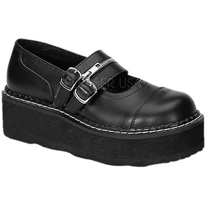 Nero 5 cm EMILY-306 calzature da gotico lolita