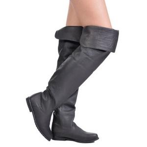 Nero Pelle 8 cm RAVEN-8826 stivali overknee tacco alto