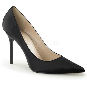 Nero Raso 10 cm CLASSIQUE-20 grandi taglie scarpe stilettos