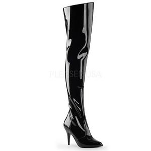 Nero Vernice 10,5 cm VANITY-3010 Stivali alti e sopra al ginocchio