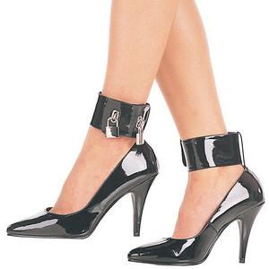 Nero Vernice 10,5 cm VANITY-434 scarpe décolleté con tacchi bassi