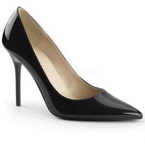 Nero Vernice 10 cm CLASSIQUE-20 scarpe tacchi a spillo con punta