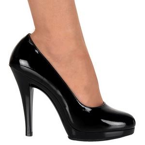 Nero Vernice 11,5 cm FLAIR-480 scarpe décolleté per uomo