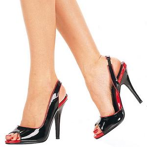 Nero Vernice 13 cm SEDUCE-117 High Heels Sandali con Tacco